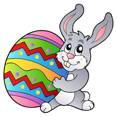 cartoon bunny: Cartoon bunny azienda uovo di Pasqua - illustrazione vettoriale.