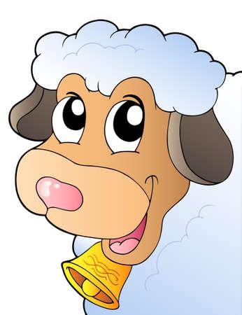 Cartoon lurking sheep  Vector