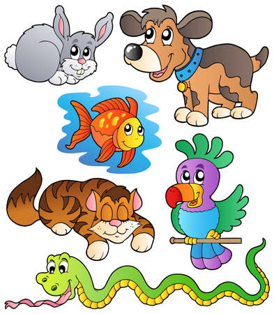 Happy pets collection 1 Stock Vector - 9133449