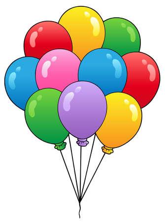 Groupe de ballons cartoon