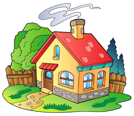 house illustration: Small family house