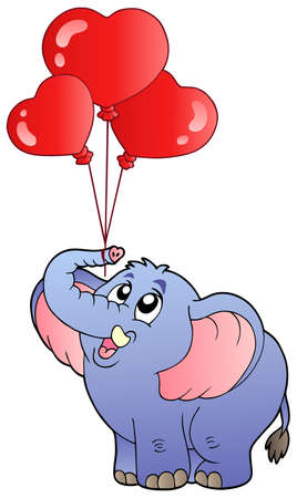 Circus elephant with balloons 2 - vector illustration. Vector