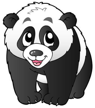 Cute small panda - vector illustration. Vector