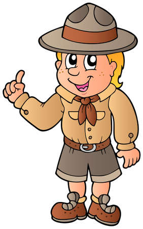 Advising scout boy Stock Vector - 9528284
