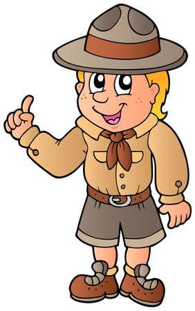 pfadfinderin: Beratung von Boy scout