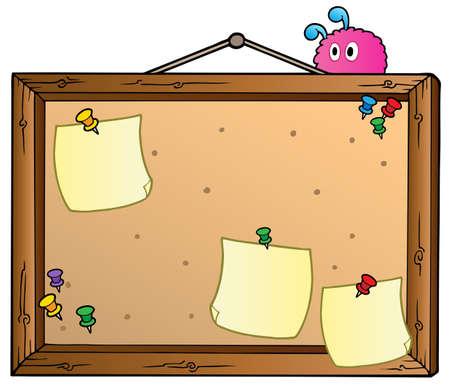 cork board: Cartoon bulletin board