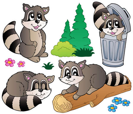 lurk: Cartoon racoons collection