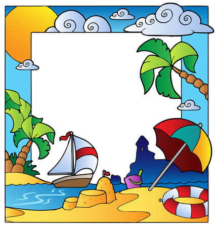 parasol: Frame with summertime theme