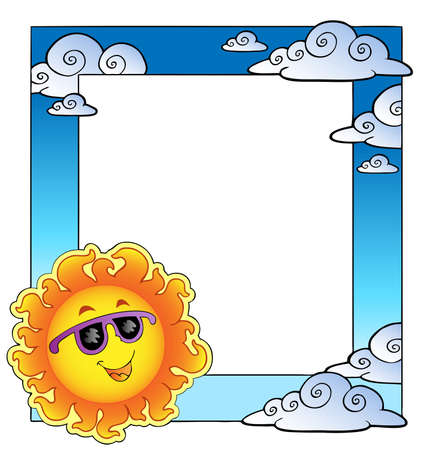 Frame with summertime theme Vector