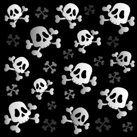cr�nes: Les os et les cr�nes de pirate