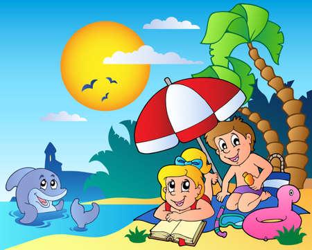 Summer theme image 6 - vector illustration. Ilustrace