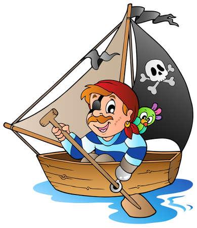 corsair: Young cartoon pirate 1 - vector illustration.