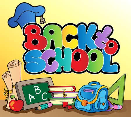 Back to school topic Stock Vector - 10354187