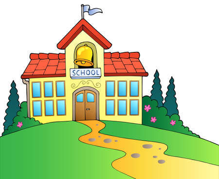 patio escuela: Edificio de la escuela grande