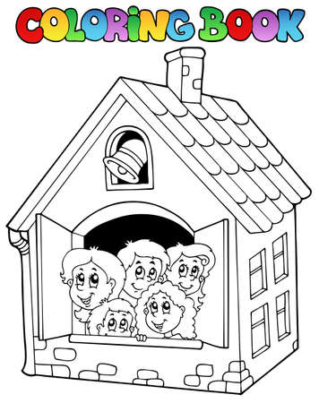 Coloring book school cartoons Stock Vector - 10354164