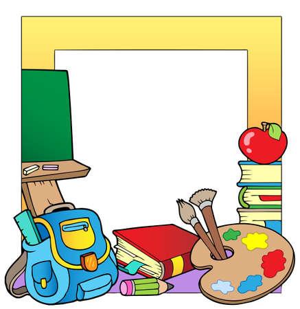 schoolbag: School theme frame 2