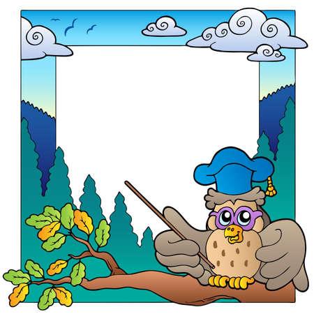 School theme frame 3  Vector