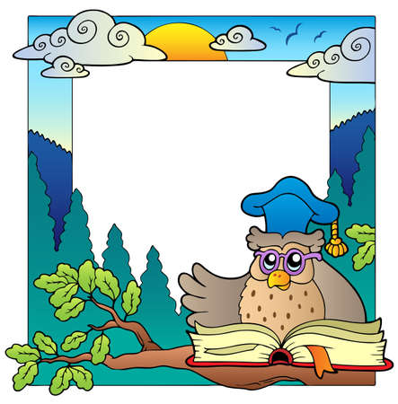 educative: School theme frame 4   Illustration