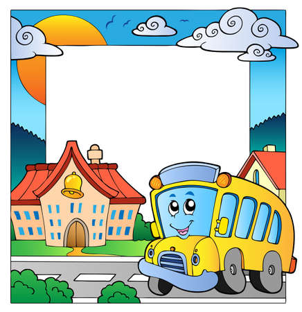 School thema frame 5  Vector Illustratie