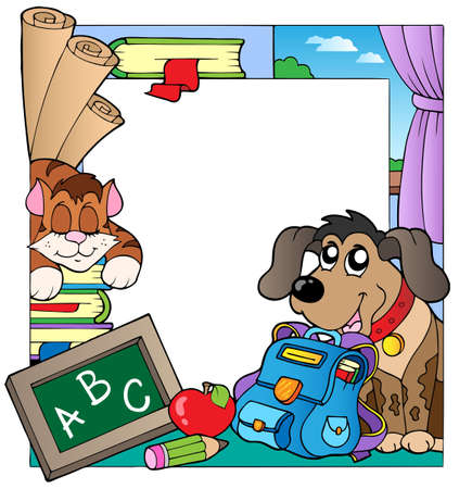 School theme frame  Vector