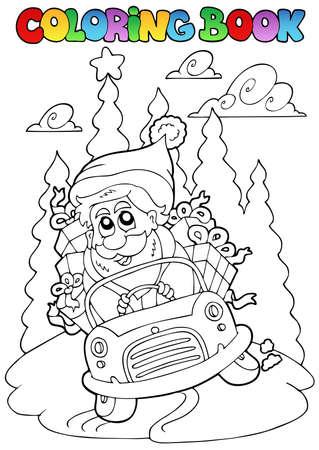 christmas theme: Coloring book Christmas topic  illustration.