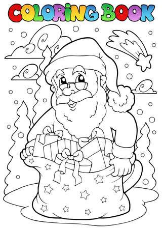 Coloring book Santa Claus theme 3 - vector illustration. Stock Vector - 10912674