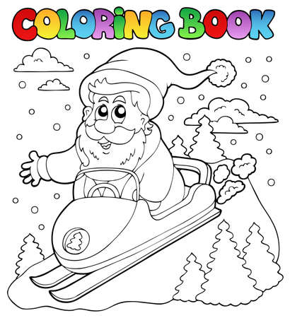 Coloring book Santa Claus topic 4 - vector illustration. Vector