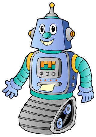 robot vector: Cartoon retro robot 1 - vector illustration.