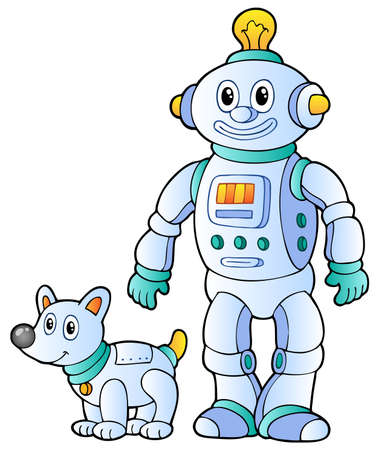 Cartoon retro robot 2 - vector illustration. Vector