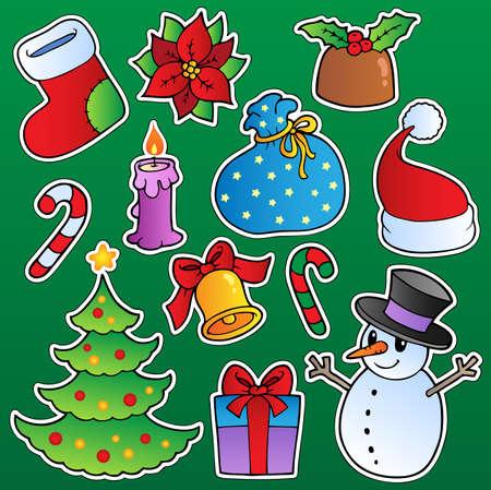 rings on a tree: Christmas season theme 1 - vector illustration.
