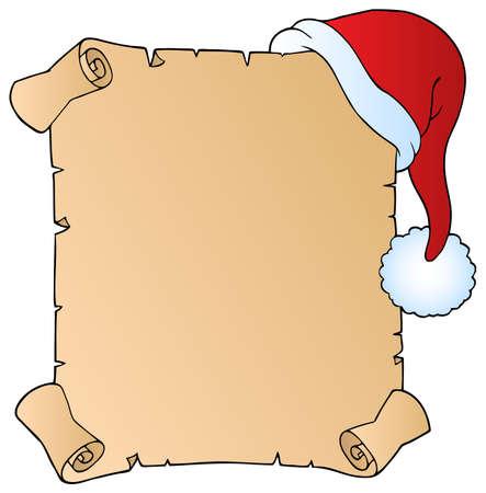 kerstmuts: Brief met kerstmuts 1 - vector illustratie. Stock Illustratie