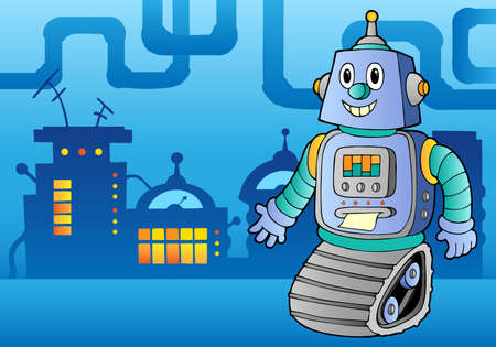 factory machine: Robot theme image 1 - vector illustration.