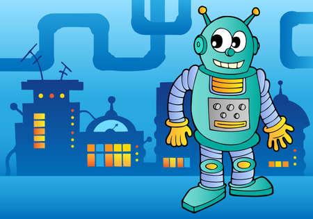 Robot theme image 2 - vector illustration. Vector