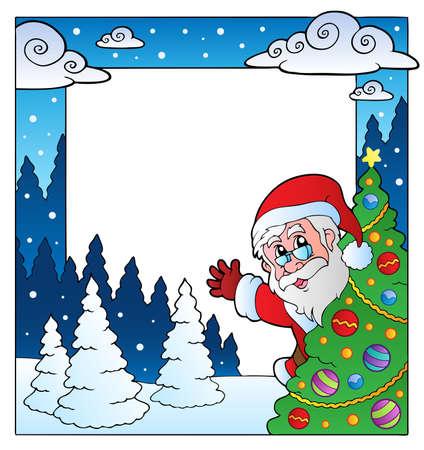 Christmas theme frame  illustration.