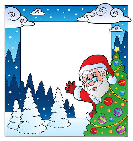 Christmas theme frame  illustration. Vector