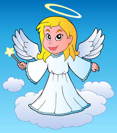 Angel theme image 1 - vector illustration. Vector