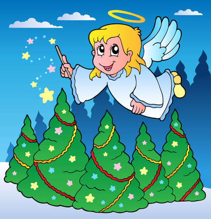 Angel theme image 2 - vector illustration. Vector
