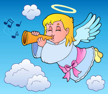 melodious: Angel theme image 3 - vector illustration.