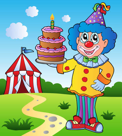 Clown theme picture 1 - vector illustration. Vector