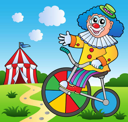 amuse: Clown theme picture 2 - vector illustration. Illustration