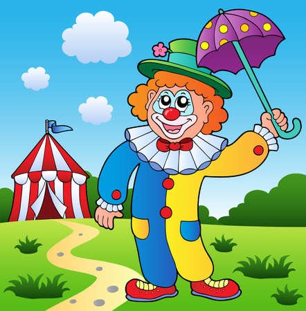 Clown theme picture 4 - vector illustration.