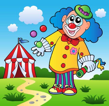 Clown theme picture 5 - vector illustration. Vector