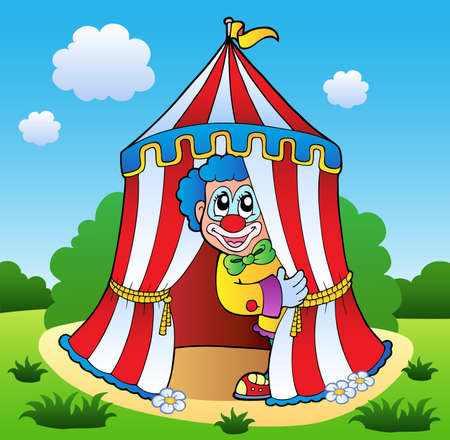 comedy show: Clown theme picture 6 - vector illustration.