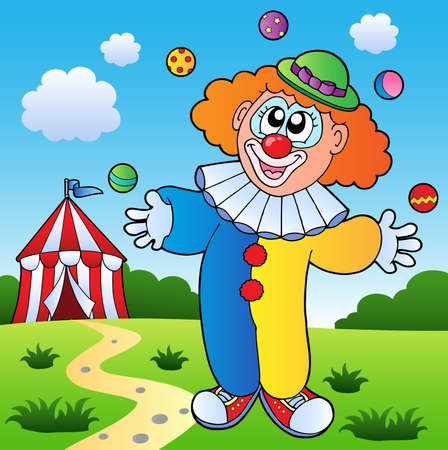 Clown theme picture 7 - vector illustration. Vector