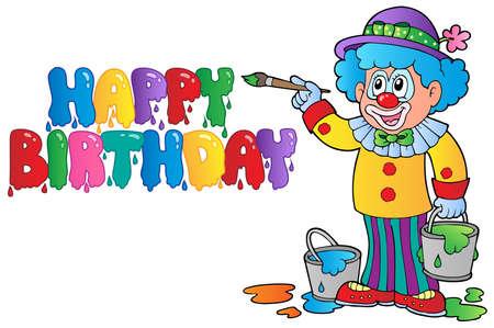 clown cirque: Photo th�me Clown 8 - illustration vectorielle.