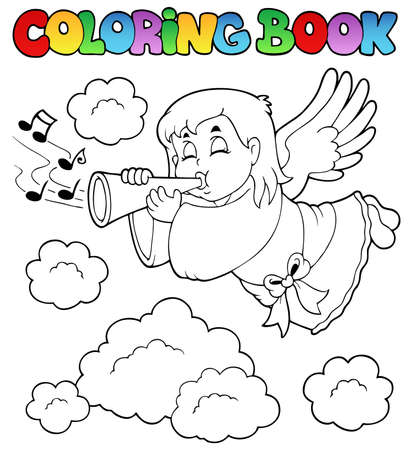 Coloring book angel theme image 3 - vector illustration. Vector