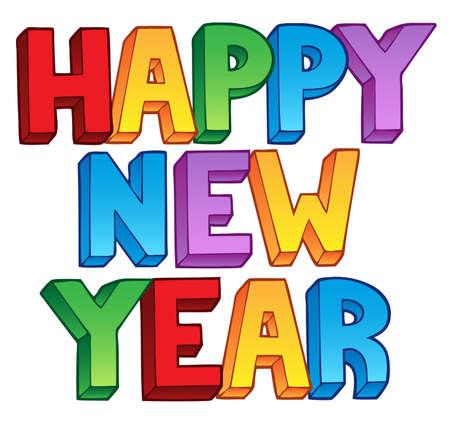 Happy New Year big sign 1 - vector illustration. Stock Vector - 11654742