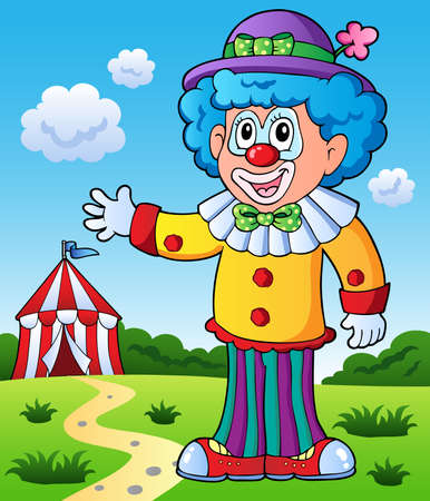 Clown theme picture 9 - vector illustration. Vector