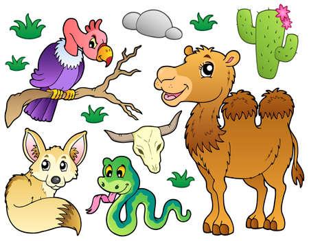 Pustynne zwierzÄ™ta Kolekcja 1 ilustracji wektorowych.