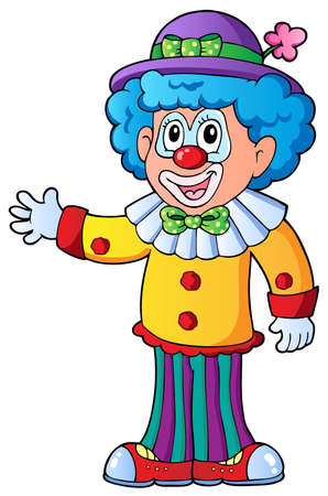 circus clown: Image of cartoon clown 2 - vector illustration.